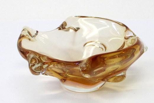 Vintage Murano Art Glass Fish Shaped Candy Dish