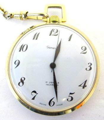 Vintage Gold Plated Geneve Pocket Watch