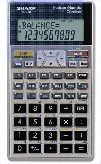 Sharp NEW EL-738 Scientific Calculator