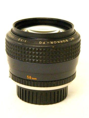 58mm f1.2 Minolta Rokkor PG Lens