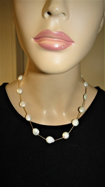14 Kt Gold Cultured Pearl Necklace