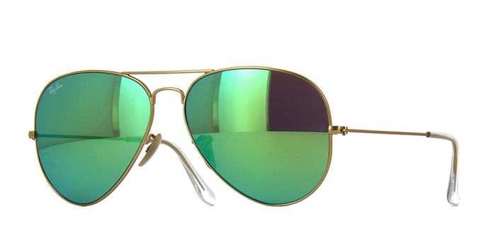 Ray Ban Sunglasses 3025 Aviator Mirror Retail $200.00