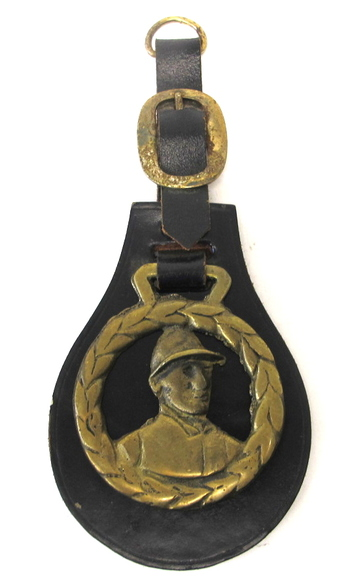 Original Horse Bridle Leather and Brass Ornament- Circa 1950's