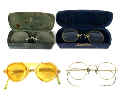 Lot of Antique Turn of the Century Eye Glasses and Pince Nez