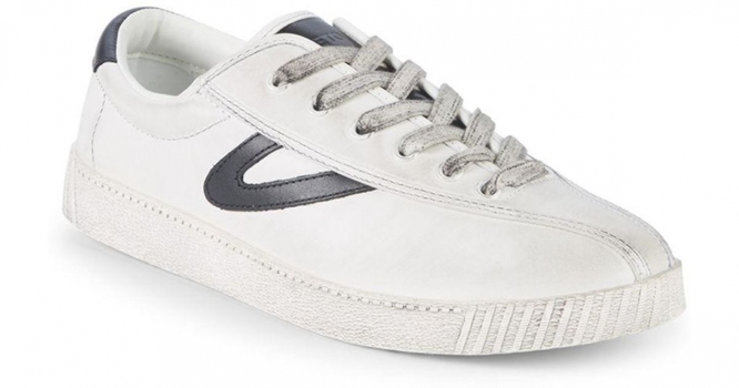 New Tretorn Nylite 1981 Leather Sneakers in White, 11.5