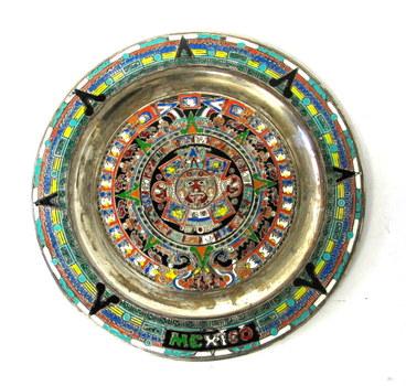 Vintage Aztec Mayan Calendar Wall Hanging