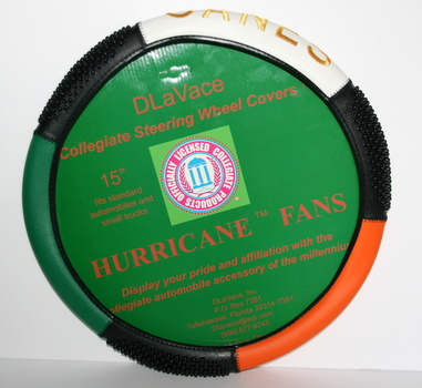 Officially Licensed by the NCAA University of Miami Hurricanes Steering Wheel Cover