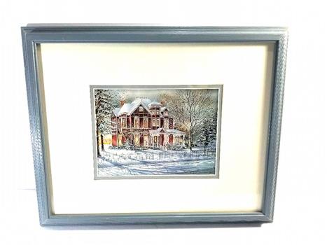1984 Vintage Litho Trish Romance Framed Print - Home Sweet Home