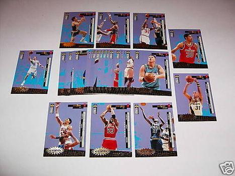 Crash the Game GOLD ITALIAN 30 Card Set 96 1996-97 Jordan Kemp Ewing Kidd Pippen