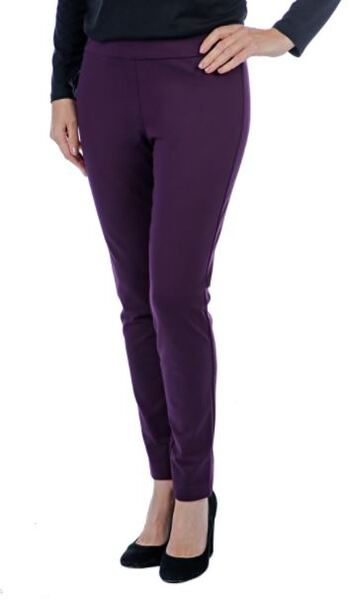Mr. Max Hollywood Slim Leg Pant, Colour: Plum, Size: 2X, Retail: $79.99