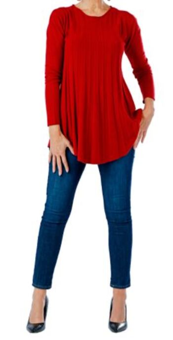 Brian Bailey Cable Knit Sweater, Colour: Red, Size: XS, Retail: $123.00