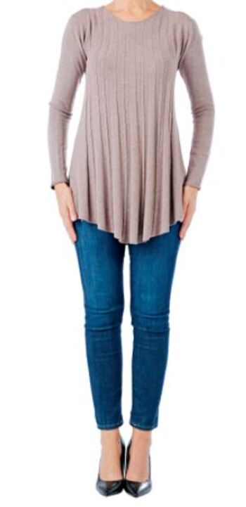 Brian Bailey Cable Knit Sweater, Colour: Oatmeal, Size: XS, Retail: $123.00