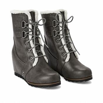 New With Tags George Women's Lace Up Wedge Fashion Boots Size 9