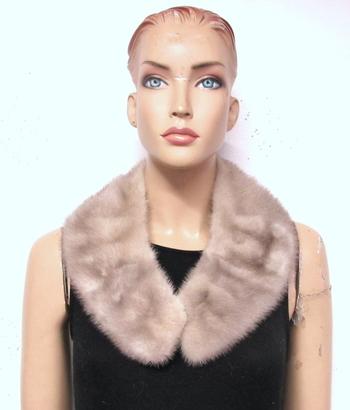 Women's Silver Gray Mink Collar