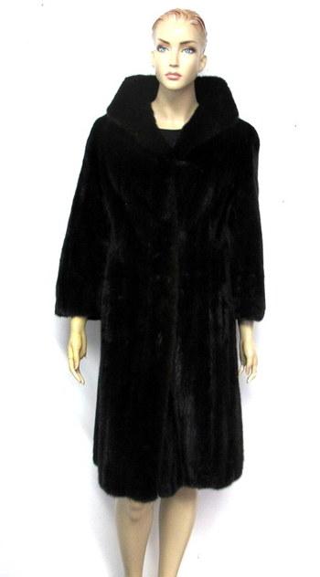 MINK - Dark Mahogany Almost Black Color Mink Coat - Size S/M - $5200.00 Cold Storage Value