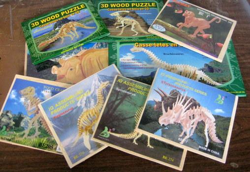 9 NEW 3D Wooden Puzzles & Construction Kit