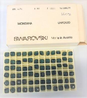 Swarovski Crystals Montana 72 Pcs Austria