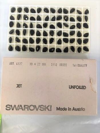 Swarovski Crystals Jet 72 Pcs Austria