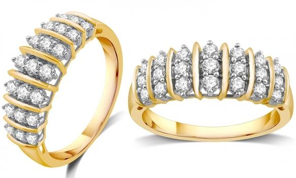 1/2 Carat Genuine Diamond Ring Size: 6 Retail $1,259.99