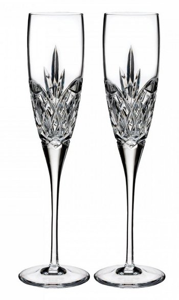 Waterford Set of Two Boxed Forever Champagne Crystal Flutes