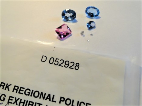 3 Diamonds Total Package of 5 Gemstones - Police Seized
