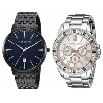 Set of Two Stylish His & Hers Vince Camuto Watches - Total Retail $600