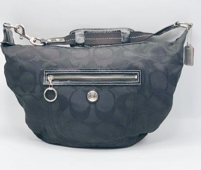 Coach # F14873 Daisy Signature Black Hobo Bag Retail $248