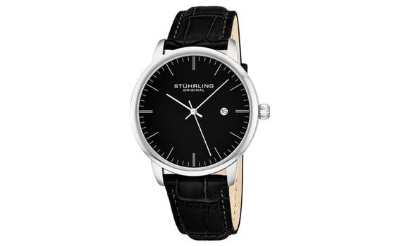 Stuhrling Men's Bracelet Dress Watch with Date $1,547.99