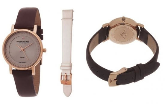 Stuhrling Original Women's Elegant Crystal Watch Set Collection MSRP $549.00