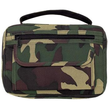 New CAMO BIBLE COVER Side Pocket Green Mossy Camouflage Book Case Cross Zipper