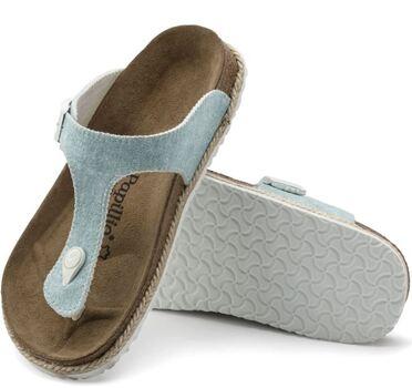 Birkenstock - Gizeh Pap - Beach Light Blue Sandals - Size 35 - US L4