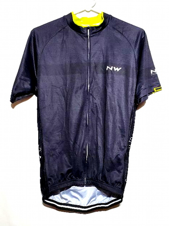 Mens NW Cycling Jersey Full Zip Short Sleeve Size L