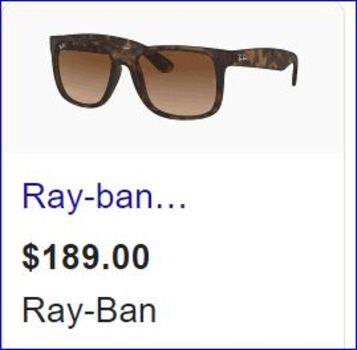 Ray Ban Unisex Sunglasses Model 4165