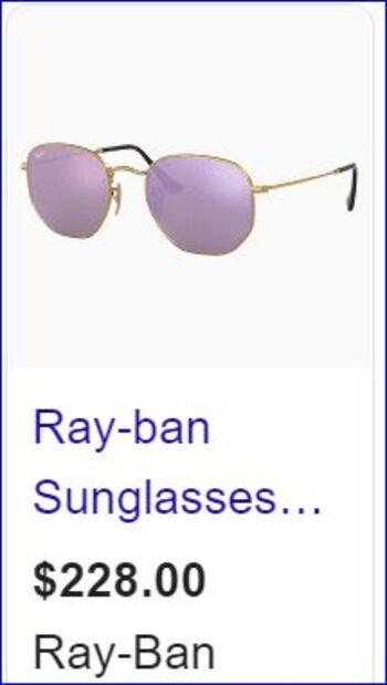 Ray Ban Unisex Sunglasses Model 3548