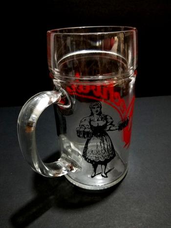 Borgonovo Italy Glass Beer Mug With Handle