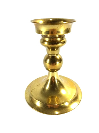 """6"""" Hand Made Solid Brass Candle Holder"""