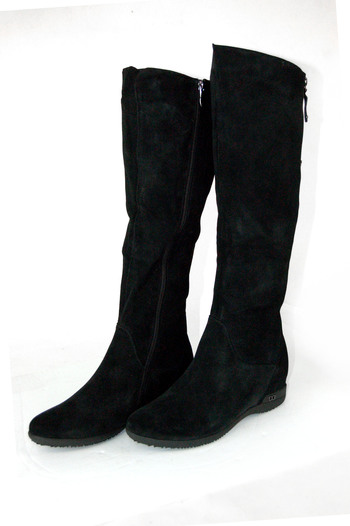 Boots: Women's Black Suede Boots by Dusaka Sz (41) 10-10 1/2 - Retail $180.00