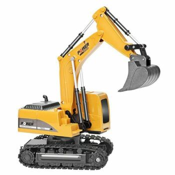 RC Excavator Toy RC Engineering Car Alloy And Plastic Excavator For Kids 2.4Ghz