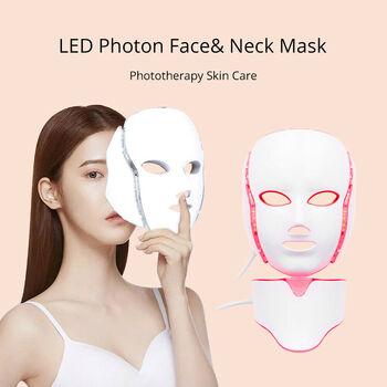 7 Colors LED Light PDT Facial Neck Mask Skin Rejuvenation