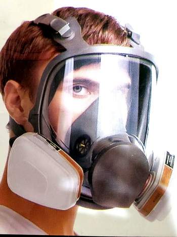 7 PC Full Face Mask Resparator