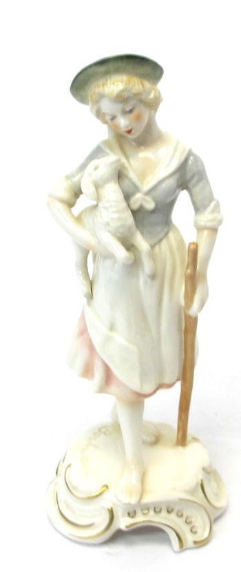 """Goebel Bochmann """"Young Girl with Lamb"""" Figurine"""