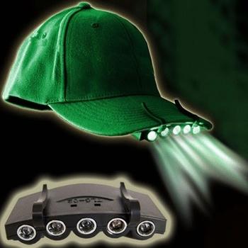 Outdoor Cap Light Camping Fishing Flashlight Headlamp (Including Batteries)