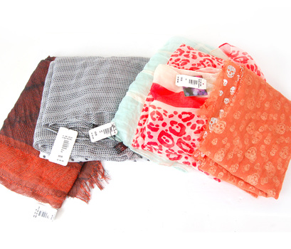 SPECIAL 5 Women's Assorted Scarves and Wraps - Combined Retail Over $100.00