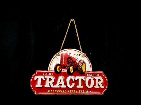 NEW Tractor Die Cut Metal Sign