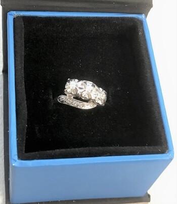 14Kt Gold Diamond Ring Appraised Sz 5.25 $3,015.00