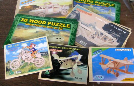 14 NEW 3D Wooden Puzzles & Construction Kit