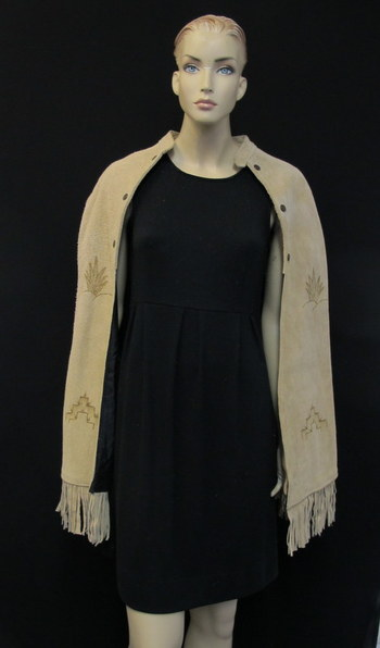 Vintage Women's/Girl's Suede Cape-Size Small
