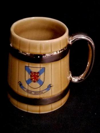 Vintage Wade England Beer Stein Barrel Ceramic mug 16 Oz