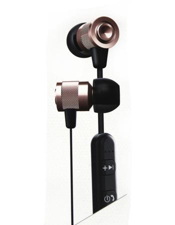 SHARPER IMAGE - BLUETOOTH TANGLE FREE EARBUDS - Rose Gold - $79.00 Retail