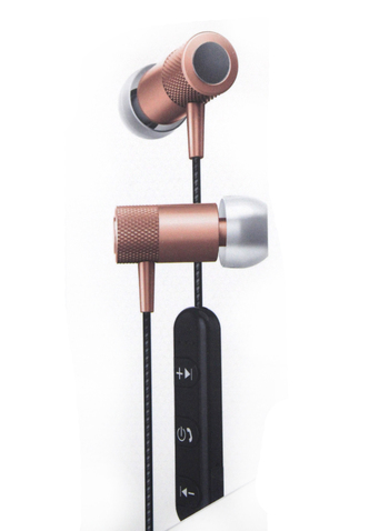 SHARPER IMAGE - BLUETOOTH MAGNETIZED EARBUDS - Rose Gold- $89.00 Retail